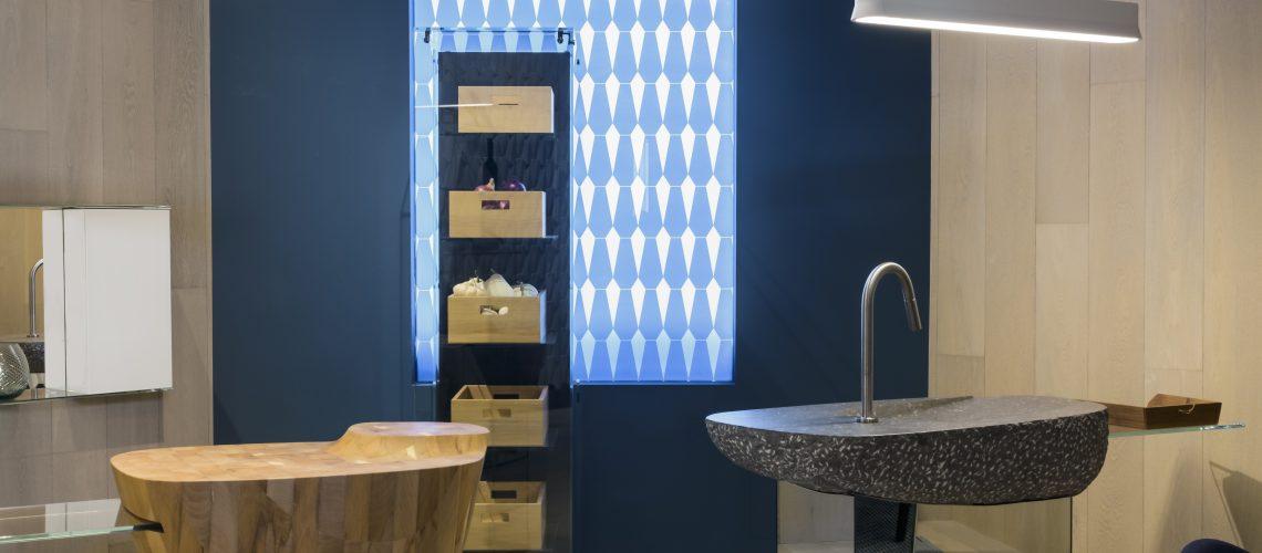 Badezimmer mit Parkett aus einem Projekt
